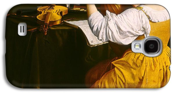 Lute Paintings Galaxy S4 Cases - The Lute Player Galaxy S4 Case by Orazio Gentileschi