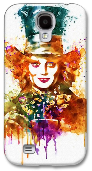 Mad Hatter Galaxy S4 Cases - The Mad Hatter watercolor Galaxy S4 Case by Marian Voicu