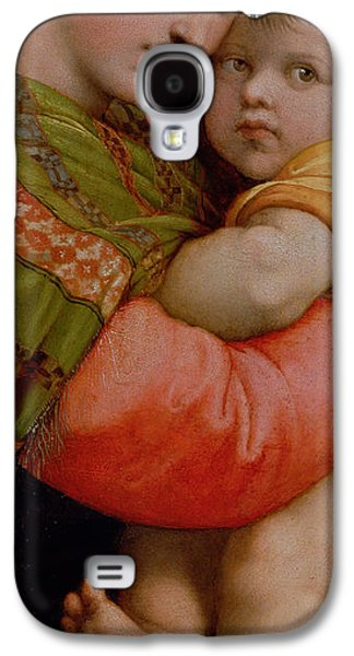 Mums Paintings Galaxy S4 Cases - The Madonna of the Chair Galaxy S4 Case by Raphael