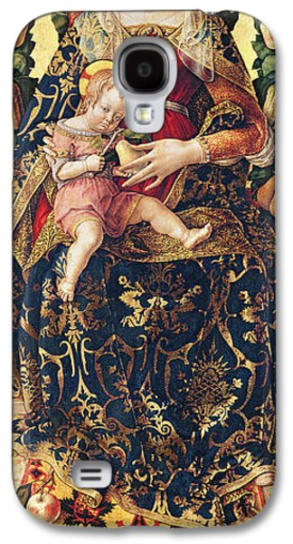 Religious Galaxy S4 Cases - The Madonna of the Little Candle Galaxy S4 Case by Carlo Crivelli