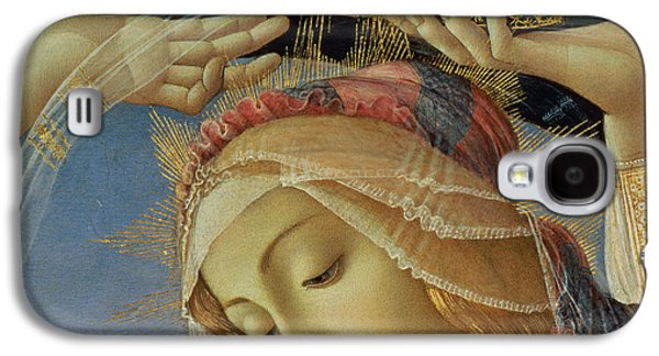 Holy Mother Galaxy S4 Cases - The Madonna of the Magnificat Galaxy S4 Case by Sandro Botticelli