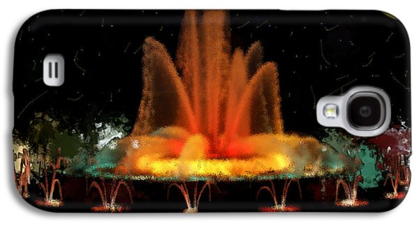 Constellations Paintings Galaxy S4 Cases - The Magic Fountain Galaxy S4 Case by Bruce Nutting