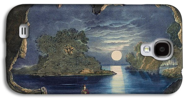Autumn Landscape Drawings Galaxy S4 Cases - The magic Lake Circa 1856  Galaxy S4 Case by Aged Pixel