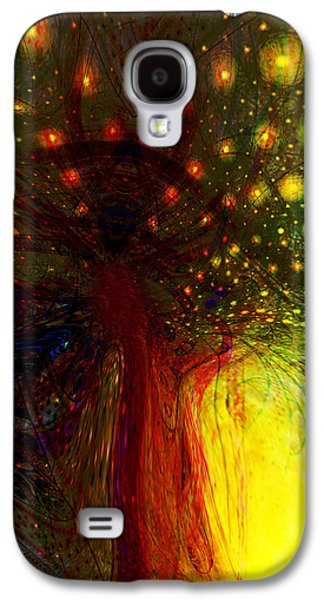 Abstract Digital Galaxy S4 Cases - The Magic Tree Galaxy S4 Case by Linda Sannuti