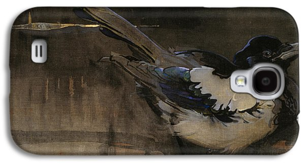Talons Paintings Galaxy S4 Cases - The Magpie Galaxy S4 Case by Joseph Crawhall