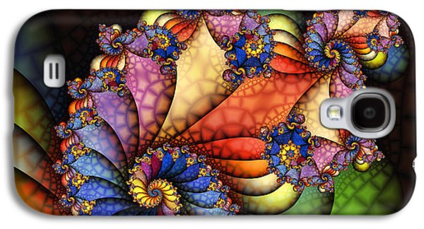 Fractal Art Galaxy S4 Cases - The Maharajahs New Hat-Fractal Art Galaxy S4 Case by Karin Kuhlmann