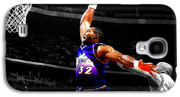 John Stockton Galaxy S4 Cases - The Mailman Carl Malone Delivery Galaxy S4 Case by Brian Reaves