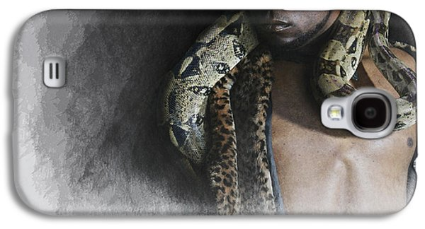 African-american Galaxy S4 Cases - The man  The snake Galaxy S4 Case by Jeff Burgess