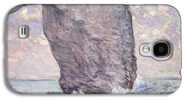 Posters On Paintings Galaxy S4 Cases - The Manneporte seen from Below Galaxy S4 Case by Claude Monet