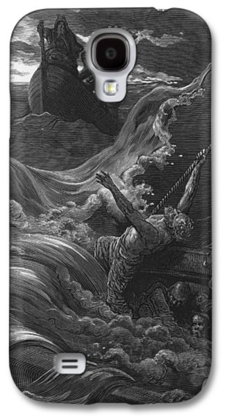 The Mariner As His Ship Is Sinking Sees The Boat With The Hermit And Pilot Galaxy S4 Case by Gustave Dore