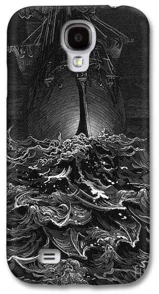 The Mariner Gazes On The Ocean And Laments His Survival While All His Fellow Sailors Have Died Galaxy S4 Case by Gustave Dore