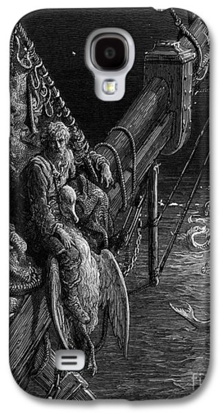 The Mariner Gazes On The Serpents In The Ocean Galaxy S4 Case by Gustave Dore