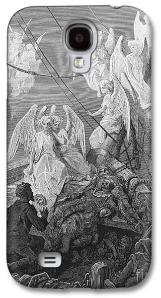The Mariner Sees The Band Of Angelic Spirits Galaxy S4 Case by Gustave Dore