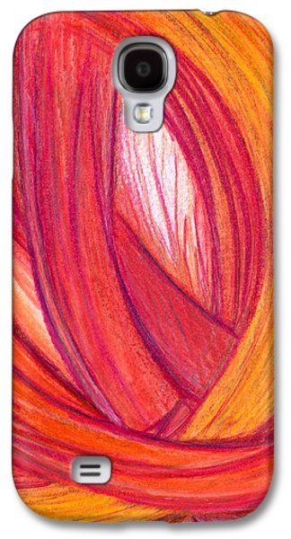 Abstract Movement Drawings Galaxy S4 Cases - The Marvelous Galaxy S4 Case by Kelly K H B