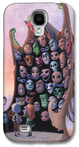 Recently Sold -  - Creepy Galaxy S4 Cases - The Mask Vendor Galaxy S4 Case by Richard Moore