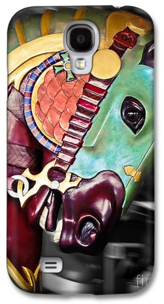 Photo Manipulation Galaxy S4 Cases - Carousel - The Masked Warrior Galaxy S4 Case by Colleen Kammerer