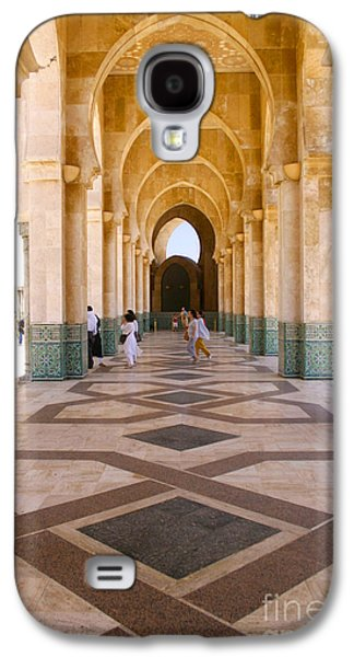 The Massive Colonnades At The Hassan II Mosque Sour Jdid Casablanca Morocco Galaxy S4 Case by Ralph A  Ledergerber-Photography