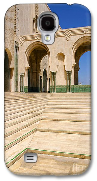 The Massive Colonnades Leading To The Hassan II Mosque Sour Jdid Casablanca Morocco Galaxy S4 Case by Ralph A  Ledergerber-Photography