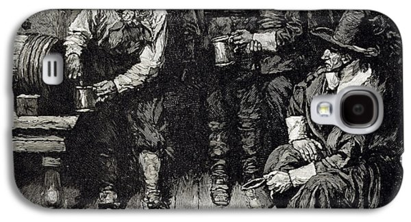 Tankard Galaxy S4 Cases - The Master Caused Us To Have Some Beere, From Harpers Magazine, 1883 Litho Galaxy S4 Case by Howard Pyle