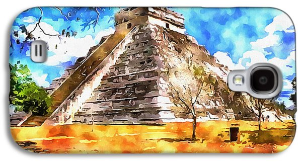 Painter Photo Photographs Galaxy S4 Cases - The Mayan Temple Galaxy S4 Case by Mario Carini
