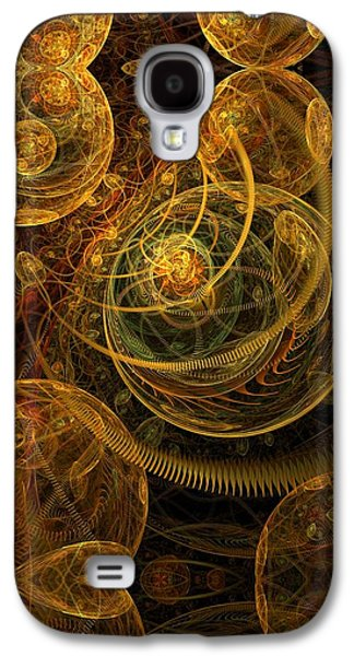 Fractal Pastels Galaxy S4 Cases - The Mechanical Universe Galaxy S4 Case by Gayle Odsather