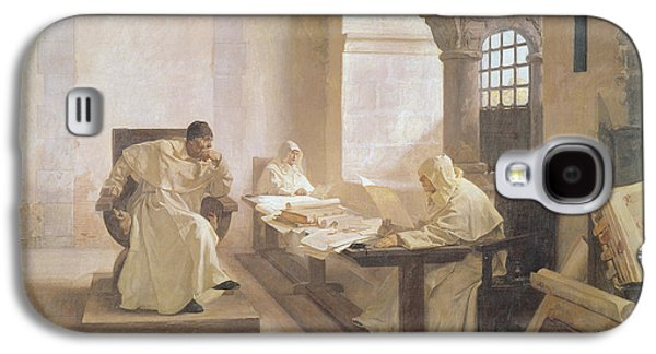 Religious Galaxy S4 Cases - The Men Of The Holy Office Oil On Canvas See Also 166365 Galaxy S4 Case by Jean Paul Laurens