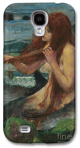Pre-raphaelites Galaxy S4 Cases - The Mermaid Galaxy S4 Case by John William Waterhouse