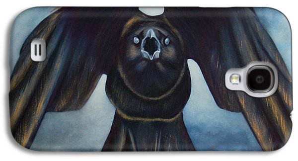 Caws Paintings Galaxy S4 Cases - The Messenger Galaxy S4 Case by Lorena Rivera