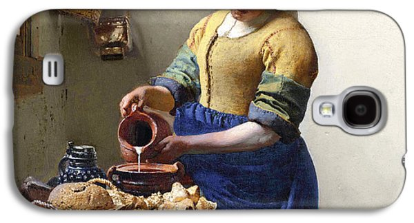 The Milkmaid Galaxy S4 Case by Jan Vermeer