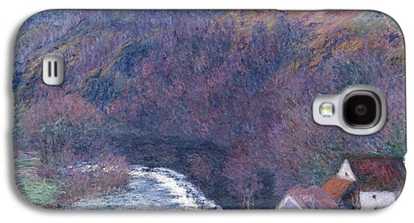 1880s Galaxy S4 Cases - The Mill at Vervy Galaxy S4 Case by Claude Monet