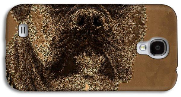 Boxer Digital Art Galaxy S4 Cases - The Modern Boxer Bulldog Galaxy S4 Case by Lesa Fine