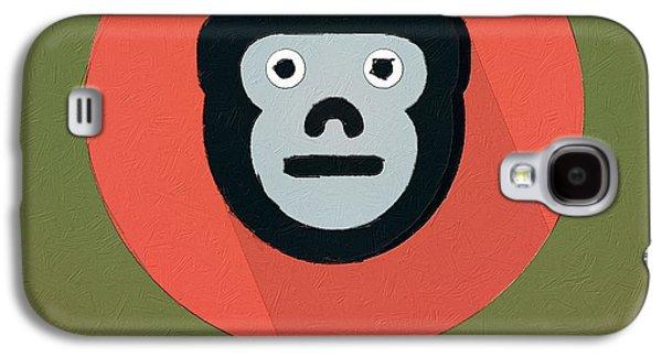 Ape Digital Art Galaxy S4 Cases - The Monkey Cute Portrait Galaxy S4 Case by Florian Rodarte
