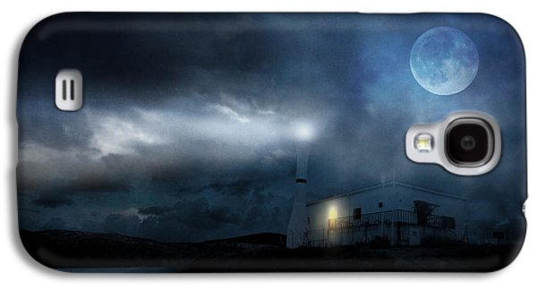 Philosophical Galaxy S4 Cases - The Moon Touches Your Shoulder Galaxy S4 Case by Taylan Soyturk