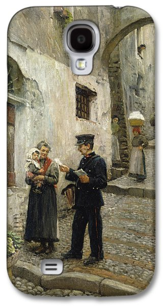 Youthful Galaxy S4 Cases - The Morning Post, 1913 Oil On Canvas Galaxy S4 Case by Paul Fischer