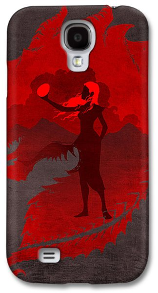 Game Galaxy S4 Cases - The Mother of Dragons Galaxy S4 Case by Christopher Ables