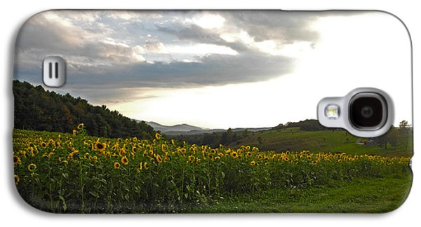 Sunflower Patch Galaxy S4 Cases - The Mountain and Her Flowers Galaxy S4 Case by Kari Watson
