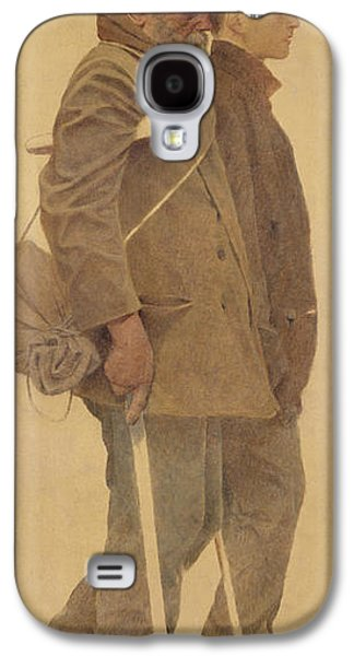 Crutch Galaxy S4 Cases - The Mouthful Of Bread, Study For Charity, 1892-1908 Oil On Canvas Galaxy S4 Case by Fernand Pelez