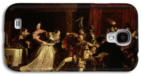 Italian Photographs Galaxy S4 Cases - The Murder Of David Rizzio, 1833 Oil On Panel Galaxy S4 Case by Sir William Allan