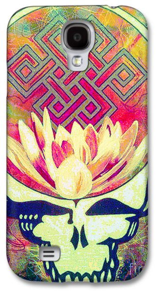 Buddhist Paintings Galaxy S4 Cases - The Music Never Stops Galaxy S4 Case by Kevin J Cooper Artwork