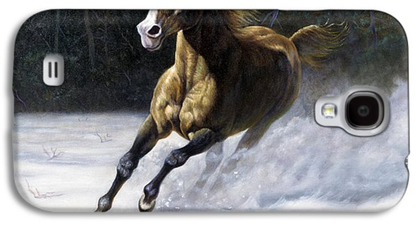 Stampede Digital Art Galaxy S4 Cases - The Mustang Galaxy S4 Case by Gregory Perillo