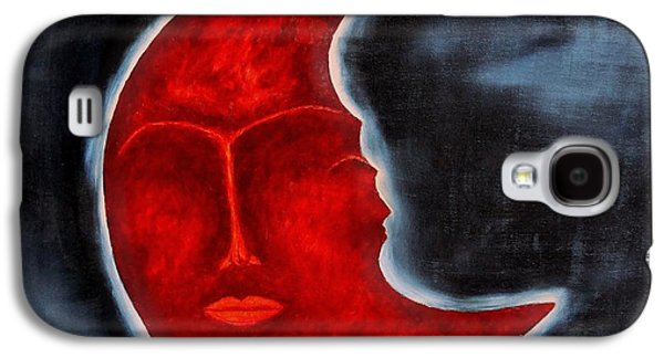 Mysterious Galaxy S4 Cases - The Mysterious Moon - Original Oil Painting Galaxy S4 Case by Marianna Mills