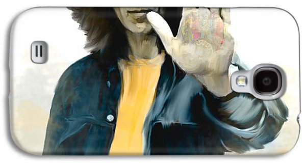 Beatles Galaxy S4 Cases - The Mystical One II George Harrison Galaxy S4 Case by Iconic Images Art Gallery David Pucciarelli