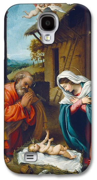 Holy Galaxy S4 Cases - The Nativity 1523 Galaxy S4 Case by Lorenzo Lotto