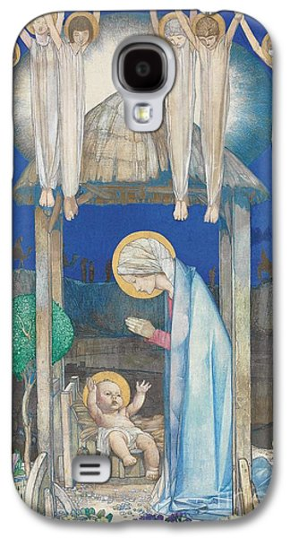 Manger Galaxy S4 Cases - The Nativity Galaxy S4 Case by Edward Reginald Frampton