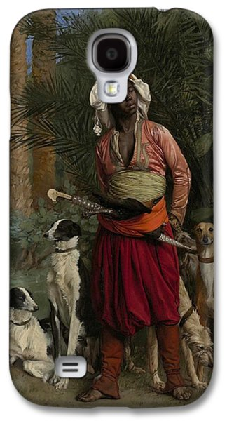 Gerome Galaxy S4 Cases - The Negro Master of the Hounds Galaxy S4 Case by Jean-Leon Gerome