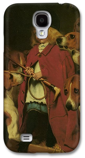 Puppies Digital Art Galaxy S4 Cases - The New Whip Galaxy S4 Case by Charles Burton Barber