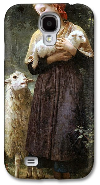 The Newborn Lamb Galaxy S4 Case by William Bouguereau