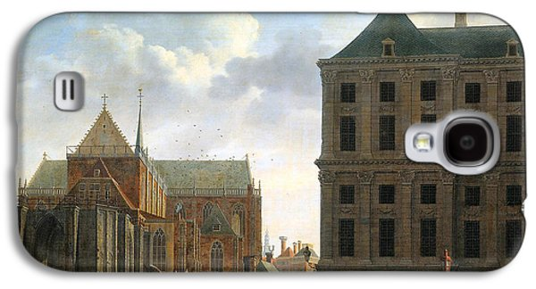Puppy Digital Art Galaxy S4 Cases - The Nieuwe Kerk and the Rear of the Town Hall in Amsterdam  Galaxy S4 Case by Isaak Ouwater
