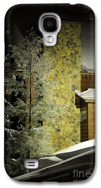 Snowy Night Night Galaxy S4 Cases - The Night Light Galaxy S4 Case by Lois Bryan