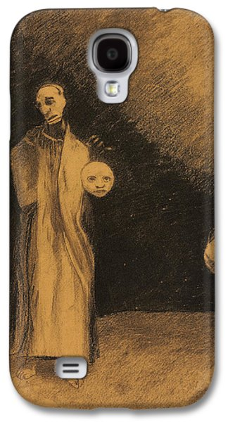 Impressionism Pastels Galaxy S4 Cases - The Nightmare Galaxy S4 Case by Odilon Redon